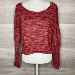 Red Wet Seal Long Sleeve Short Sweater Top